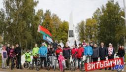 Более 70 человек приняло участие в велопробеге организаций и предприятий Железнодорожного района в Витебске