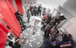 100-летие открытия Витебского народного художественного училища отметили в музее истории этого учебного заведения на улице Марка Шагала, 5а.