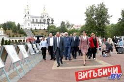 Витебск в День города  принимает гостей из Беларуси, а также ближнего и дальнего зарубежья