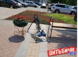 Новые малые архитектурные формы устанавливают на улицах Витебска