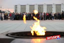 Более 500 витебских школьников участвуют в патриотическом марафоне «Автопоезд памяти»