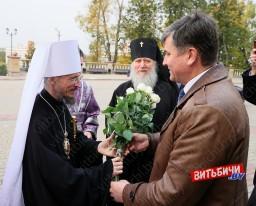 Патриарший Экзарх всея Беларуси Вениамин возглавил и провел Божественную литургию в Свято-Успенском кафедральном соборе Витебска
