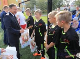 В Детском доме города Витебска состоялось торжественное открытие площадки по мини-футболу