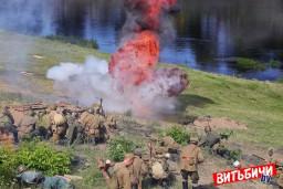 Витебску – 1045! В Витебске реконструкторы воссоздали бой у моста Блохина июня 1944-го