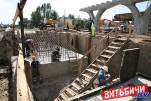 В Витебске продолжается возведение путепровода«Полоцкий»