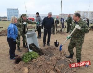 Витебск присоединился к общереспубликанскому субботнику