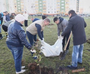 Городской субботник 13 октября 2018 года в Витебске