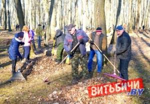 Около 54 тысяч витебчан приняли участие в благоустройстве города с начала месячника, который стартовал 12 марта